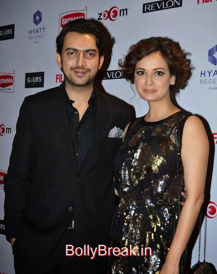 Sahil Sangha, Dia Mirza, 60th Britannia Filmfare Awards pre-awards Party 2015 Red Carpet Pics