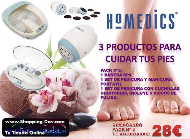 Llévate 3 productos HOMEDICS y te ahorrarás 28€ en tu compra
