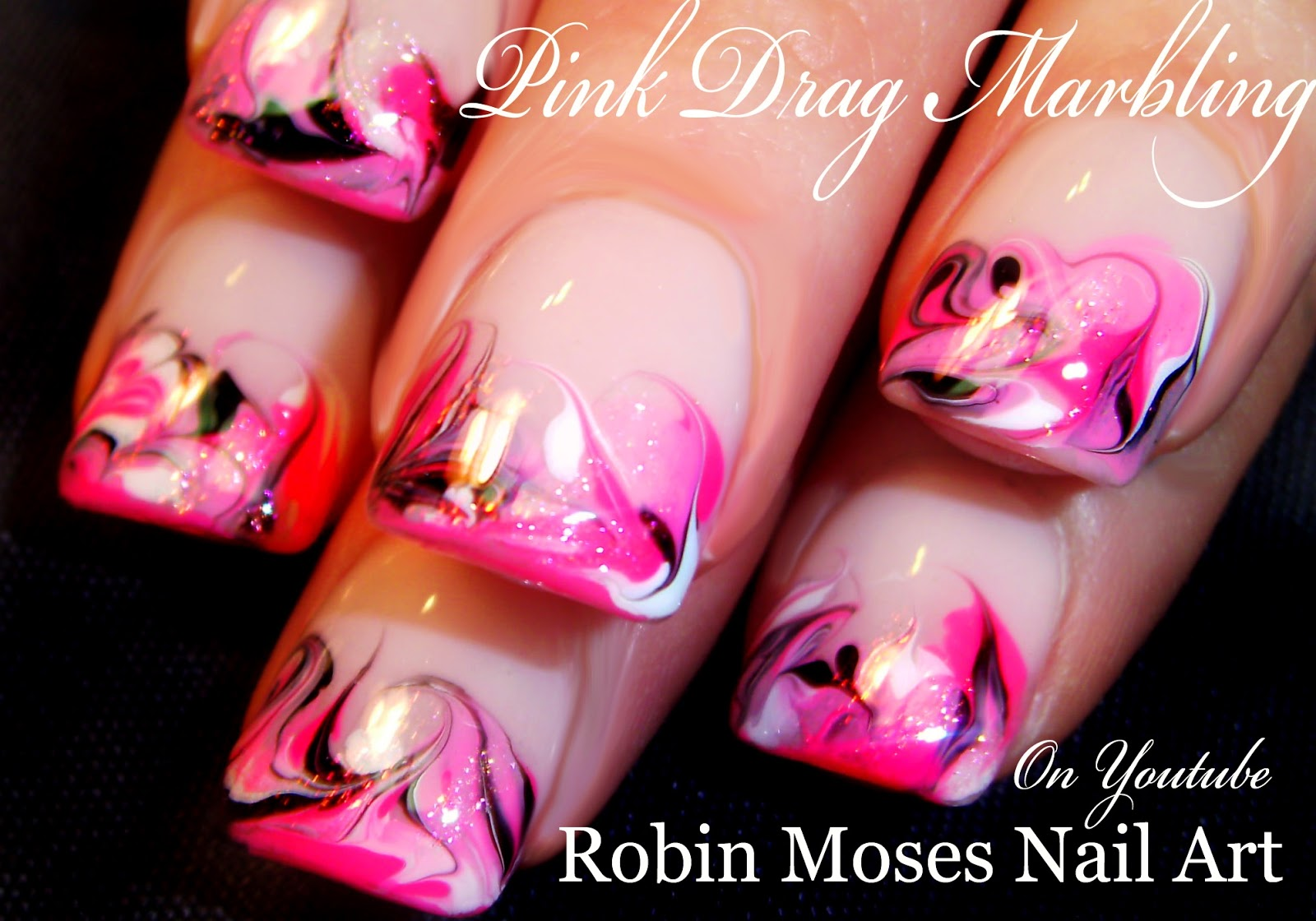Nail Art by Robin Moses: 3 Different marble nail art without using ...