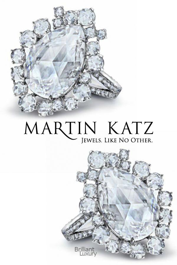Brilliant Luxury♦Martin Katz 4.0 ct pear-shape rose-cut diamond ring #jewelry