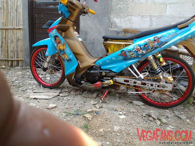 Vega ZR 2012 Biru Doraemon Modif Simple Ceper