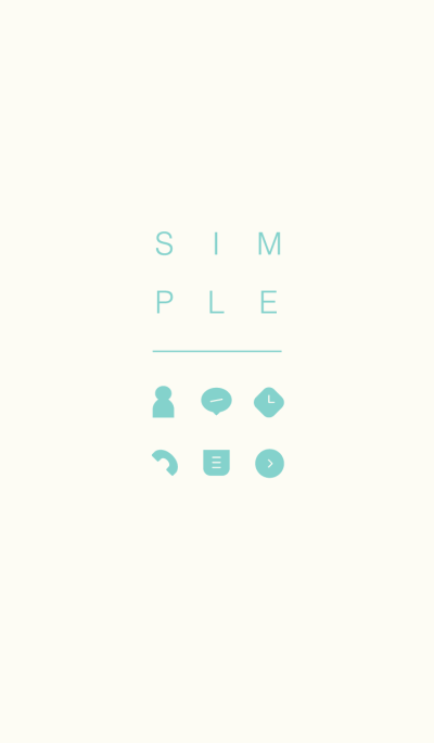 SIMPLE / ivory-green.