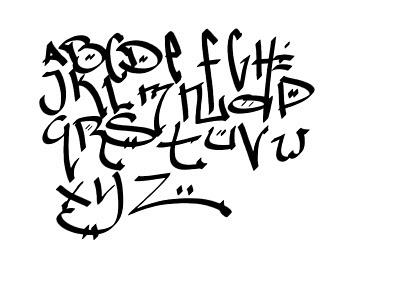 Melissa Satta Body Paint Graffiti Letters Alphabet Designs Sketches