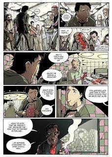 """Páginas de ejemplo del cómic """"Buckson"""", de Víctor Araque"""
