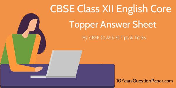 CBSE 2018 English Core Topper Answer Sheet