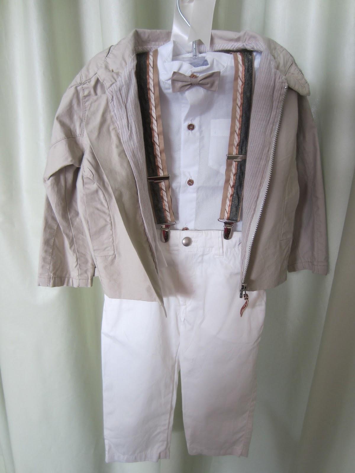 60a42ebf208 Παντελόνι, πουκάμισο, παπιόν, τιράντες, σακάκι και καπέλο. Νο 1. Τιμή: 60  ευρώ.