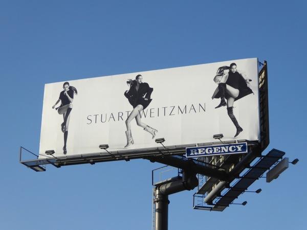 Gigi Hadid Stuart Weitzman FW16 footwear billboard