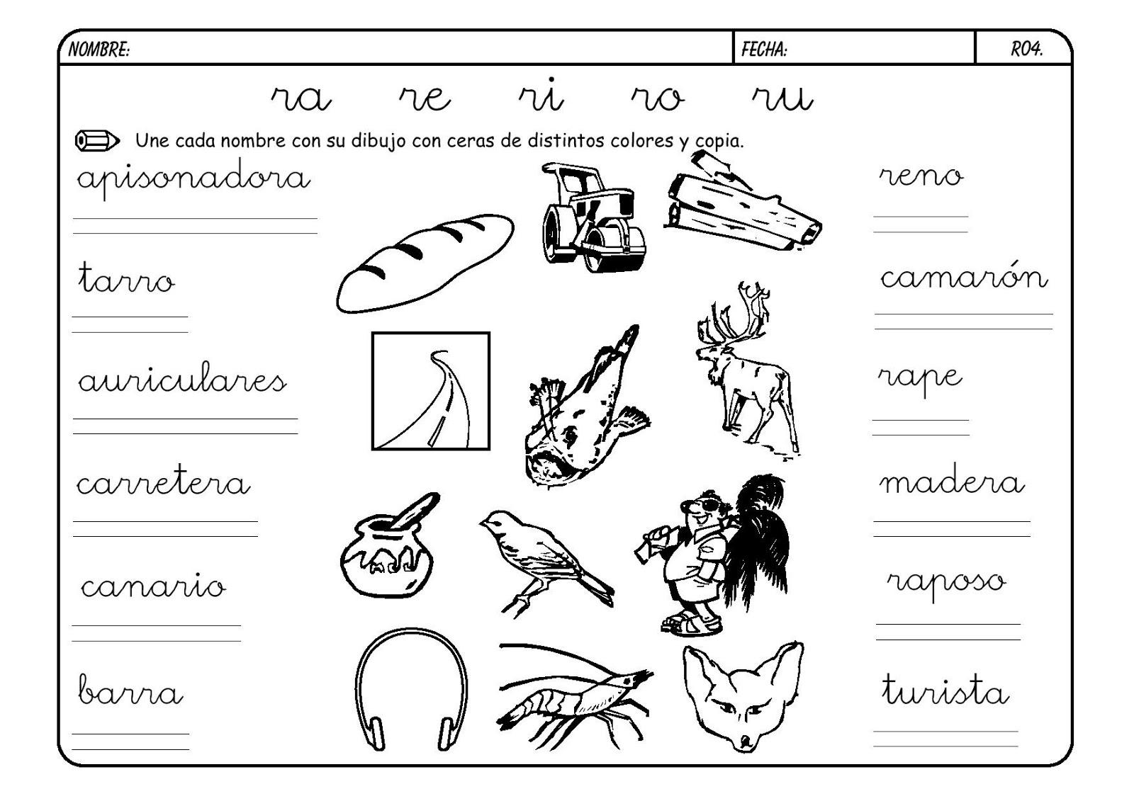 Cuentos Poemas Y Canciones Para Ninos La Letra R