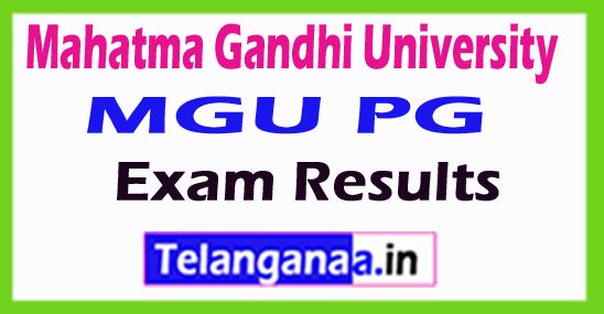 Mahatma Gandhi University MGU PG Exam Results