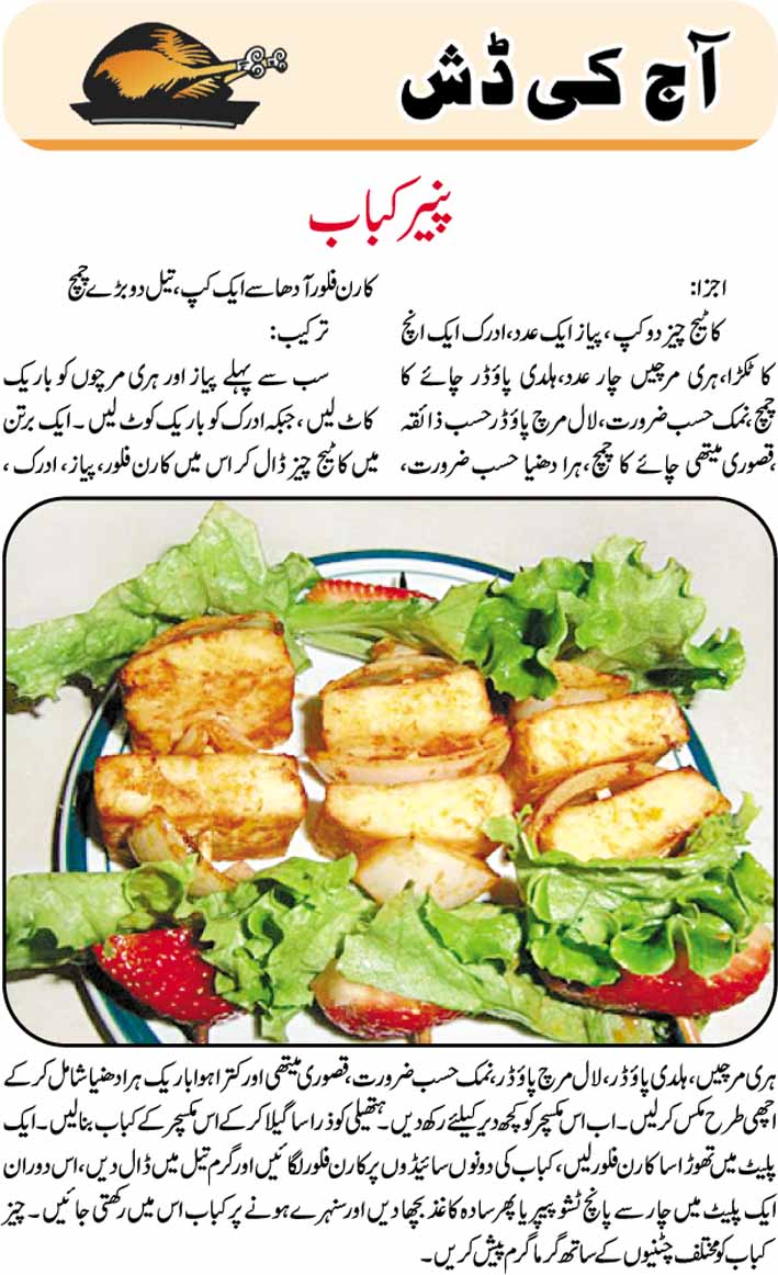 Daily Cooking Recipes In Urdu Paneer Kabab Recipe In Urdu