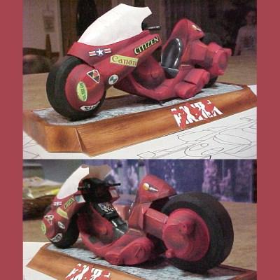 Akira Motorcycle Paper Model