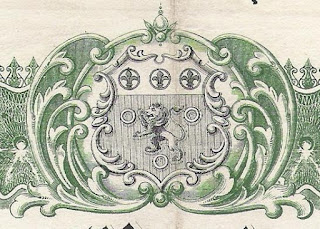 coat of arms of the Cape Colony embellished with scrollwork