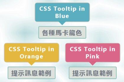 簡單漂亮的 CSS 提示框(tooltip)懶人包實作﹍(1) 動畫效果 + 置中演算法