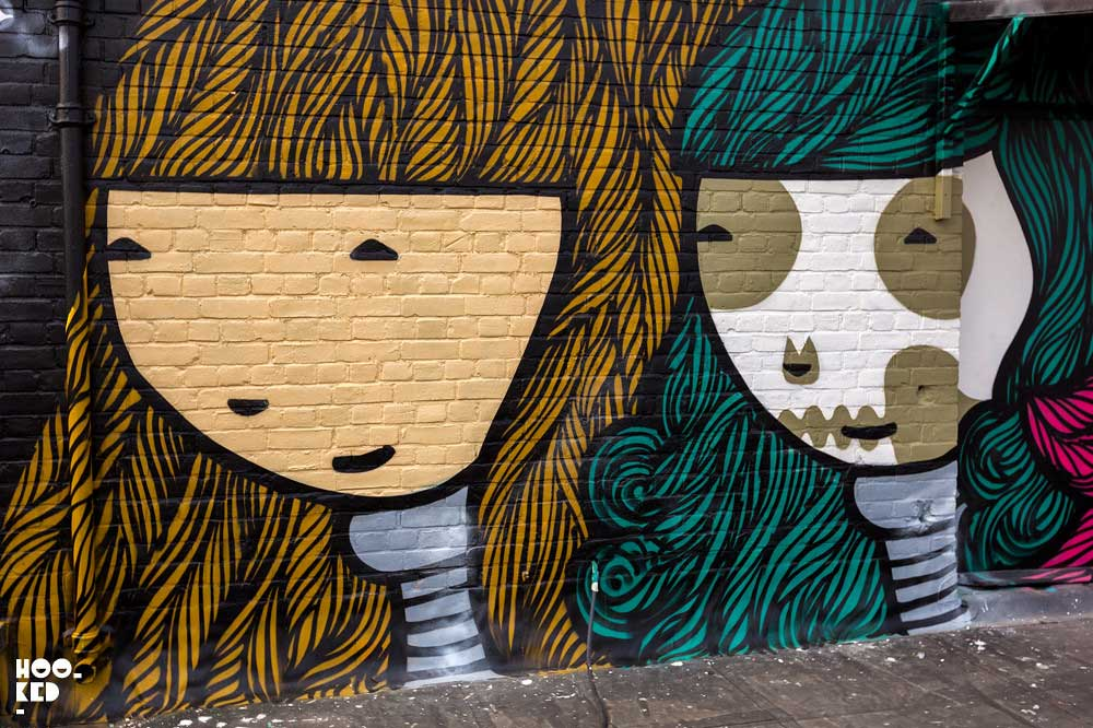 Triple Goddess London Mural by Kid Acne for Jealous Gallery's Rooftop Mural Project