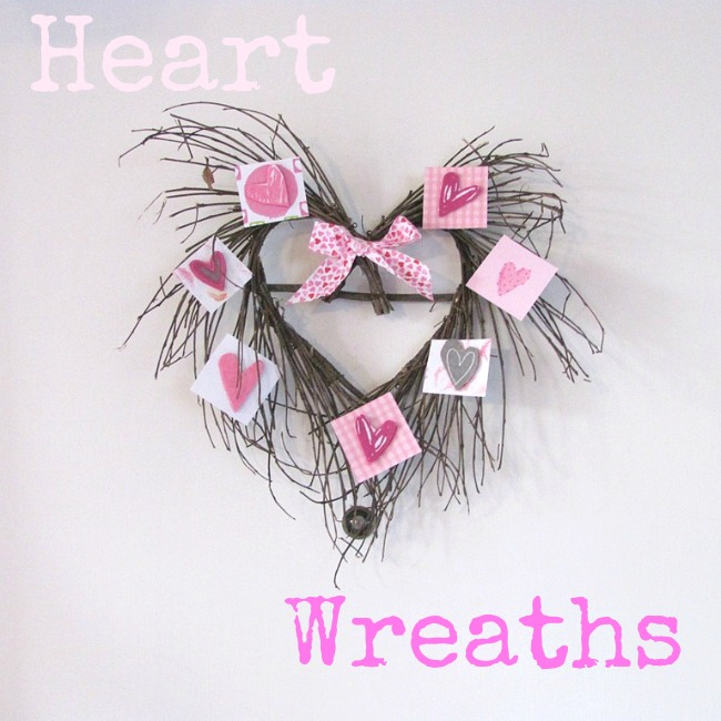 DIY heart grapevine wreath.