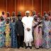 Wow! President Buhari meets the 21 freed Chibok girls...photo