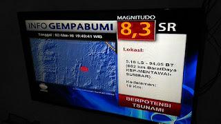 Gempa Mentawai hari ini 2 Maret 2016 di televisi
