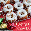 Curry and Comfort: Eggnog Glazed Cake Donuts