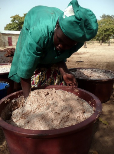 Mixing Shea Butter by Hand