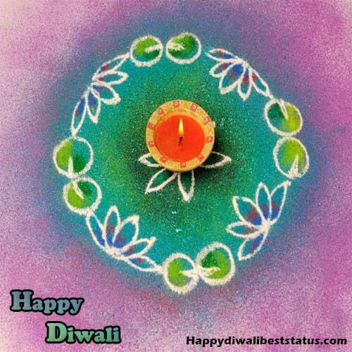 Very Simple Small Rangoli Design For Diwali