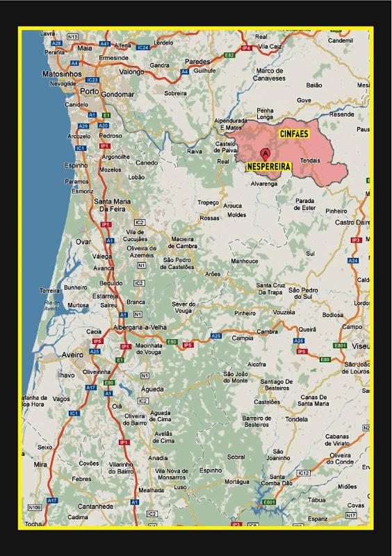 cinfães mapa Farpas Blogue: 4 de Agosto: toiros em Nespereira (Cinfães) cinfães mapa