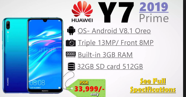 Huawei Y7 Prime 2019 Price in Pakistan - New Mobile Prices