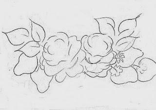 risco de morangos e rosas