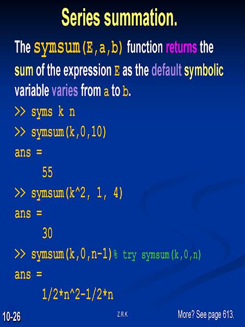 LAB5: SYMBOLIC PROCESSING WITH MATLAB