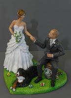 cake topper milano idea regalo sposi appassionati cani orme magiche