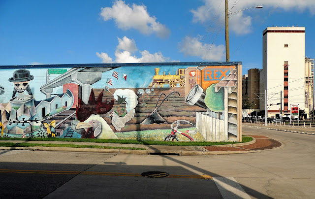 MURAL ON WEST-FACING WALL OF REX SUPPLY CORPORATION BUILDING