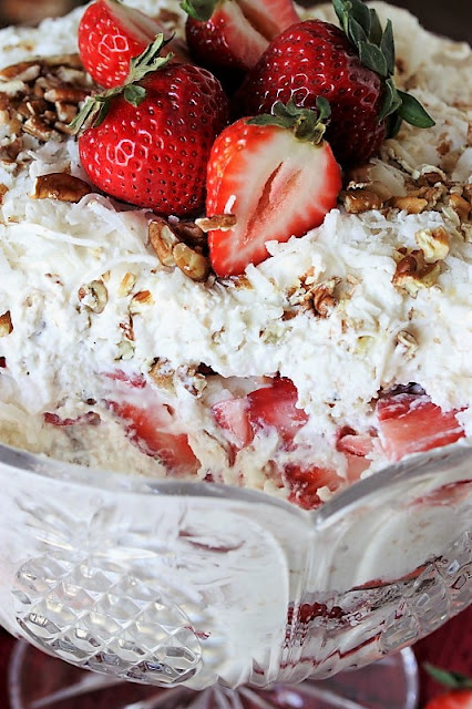 Layers of Strawberry Punch Bowl Cake Image