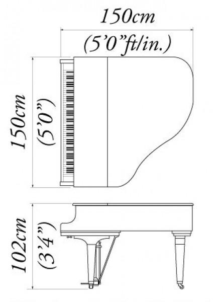 Jelia 39 s music playground kawai grand piano gm 10 for Yamaha grand piano sizes