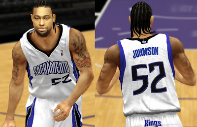 NBA 2K13 James Johnson Cyber Face Download Mod