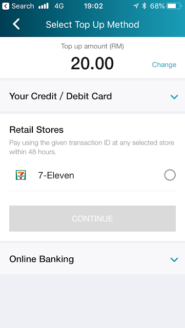 Lazada e-wallet - top up via Cash using MOLPay Cash at 7-11