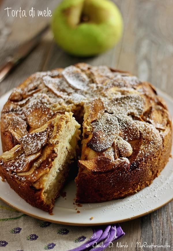 Torta di mele (senza uova, senza burro)