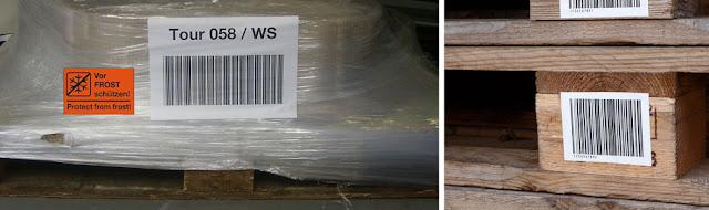Etiketten für Paletten / Holz