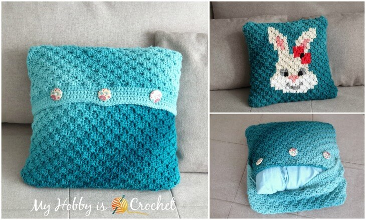 Removable C2C Bunny Pillow Case