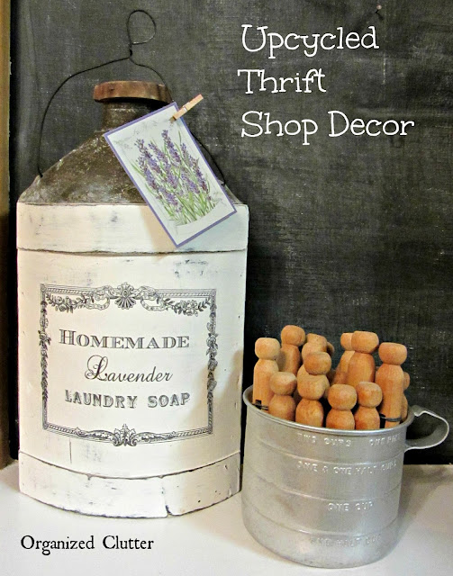 Upcycled Thrift Shop Decor #imagetransfer #graphicsfairy #frenchcountry #upcycle