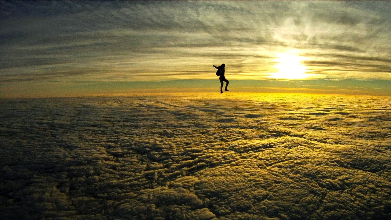 Skydiving in the Sunset
