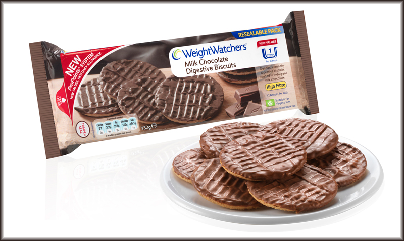 Weight Watchers Milk Chocolate Digestive Biscuits