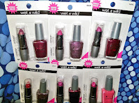 Wet&Wild lipstick nailpolish duo sets DOLLAR TREE haul review nail swatches lips gloss
