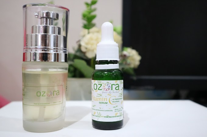 Review OZORA Vitamin C Serum dan Brightening Traetment Essence