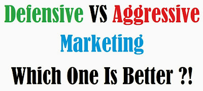 Defensive vs aggressive marketing