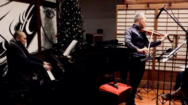2018年12月23日喜多直毅(ヴァイオリン)田中信正(ピアノ) クリスマススペシャルライヴ@雑司ヶ谷エル・チョクロ