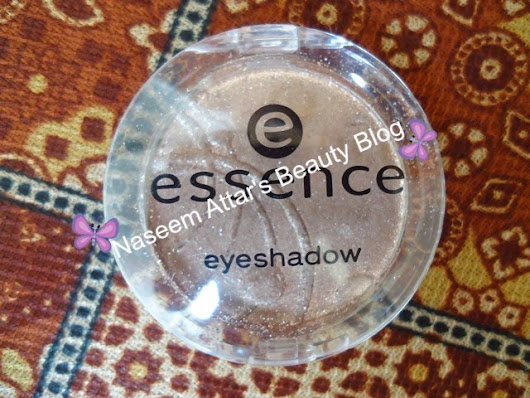 Essence single eye shadow review ~ Naseem Attar's Beauty Blog