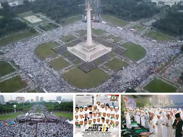 Jutaan Massa Menghadiri Reuni Akbar 212 di Kawasan Monas