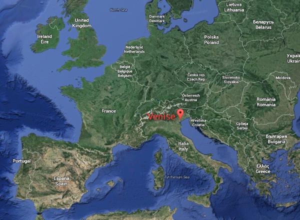 carte europe venise