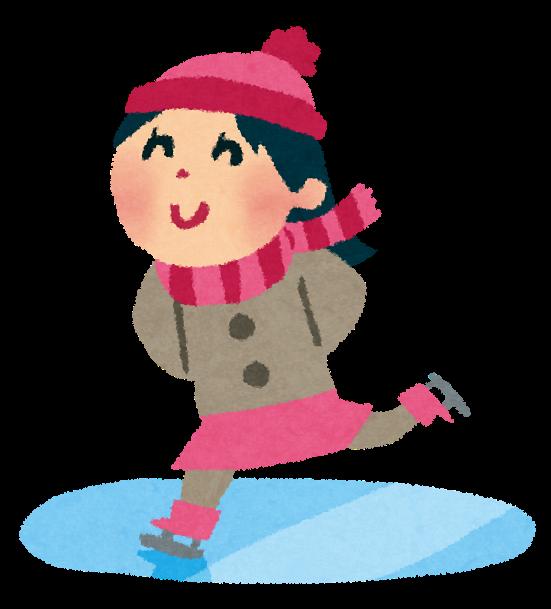 スケートのイラスト女の子 かわいいフリー素材集 いらすとや