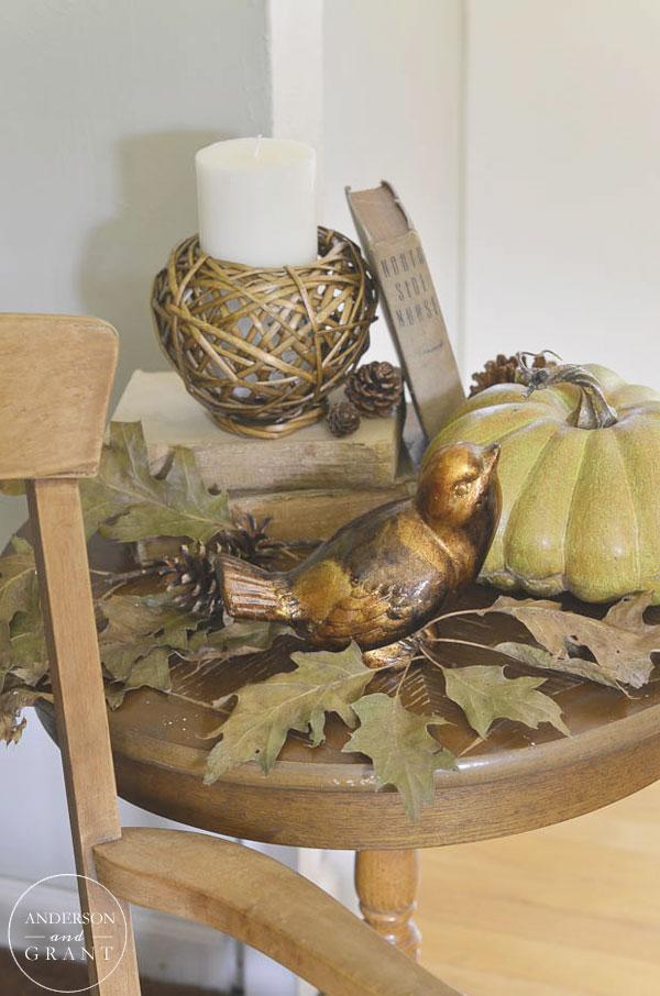 Shades of brown fall display