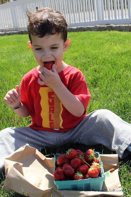 First taste of Jersey Strawberries